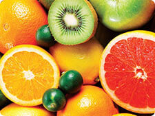 oranges, grapefruits, kiwi, lemons